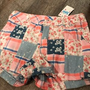 NWT Justice patchwork shorts